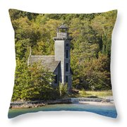Grand Island E Channel Lighthouse 1 Throw Pillow