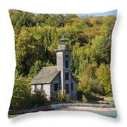 Grand Island E Channel Lighthouse 2 Throw Pillow