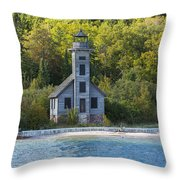 Grand Island E Channel Lighthouse 3 Throw Pillow