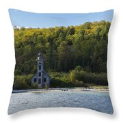 Grand Island E Channel Lighthouse 4 Throw Pillow
