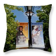 Grand Ole Opry Flags Nashville Throw Pillow