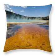 Grand Prismatic Spring IIi Throw Pillow