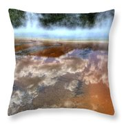 Grand Prismatic Spring Iv Throw Pillow