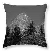Grand Teton Bw Throw Pillow