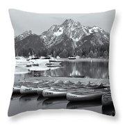Grand Teton Dawn Iv Throw Pillow