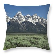 Grand Teton Spring Throw Pillow