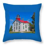 Grand Traverse Lighthouse Throw Pillow
