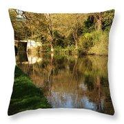Grand Union Canal Near Denham Throw Pillow
