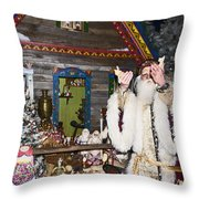 Grandfather Frost Of Russia Throw Pillow