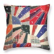Grandma Baird's Quilt Throw Pillow