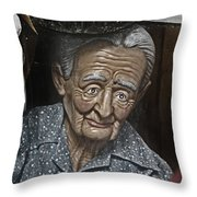 Grandma Under Glass Throw Pillow