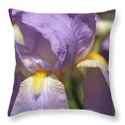 Grandma's Iris Throw Pillow