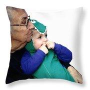 Grandma's Little Dino Throw Pillow