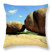Granite Boulders 2  Throw Pillow