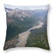 Granite Creek In The Chugach Mountains Throw Pillow