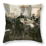 Grants Cabinet, 1869 Throw Pillow