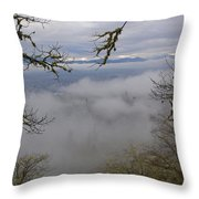 Grants Pass In The Fog Throw Pillow