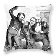 Grant/tweed Cartoon, 1872 Throw Pillow