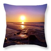 Grape Sea Throw Pillow