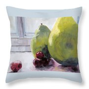 Grapes And Pears Throw Pillow