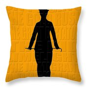 Graphic Chaplin Throw Pillow by Andrew Fare