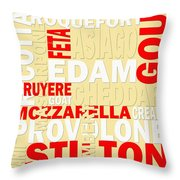 Graphic Cheese Throw Pillow