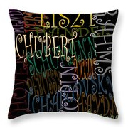 Graphic Composers Throw Pillow