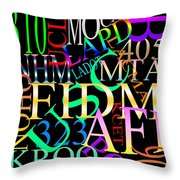 Graphic Los Angeles 1 Throw Pillow