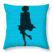Graphic Marilyn Monroe Throw Pillow
