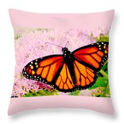 Graphic Monarch Throw Pillow