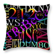 Graphic New York 1 Throw Pillow