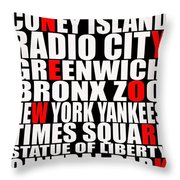 Graphic New York 3 Throw Pillow