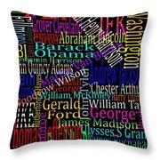 Graphic Presidents Throw Pillow