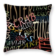 Graphic Seafood Throw Pillow