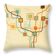 Graphic Tree Pattern Throw Pillow