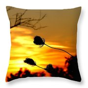 Grasping The Sunset Throw Pillow
