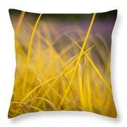 Grass Abstract 3 Throw Pillow