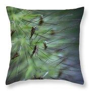 Grass Abstraction Throw Pillow