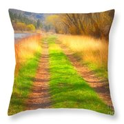 Grass And Shadows Throw Pillow