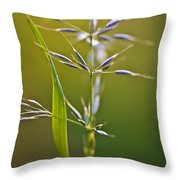 Grass In Flower Throw Pillow