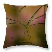 Grass Seeds Throw Pillow