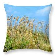 Grass Waving In The Breeze Throw Pillow