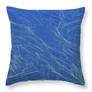 Grasses And Water Throw Pillow