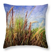 Grasses Standing Tall Throw Pillow