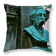 Grave Image Throw Pillow