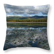 Gravel Lake, North Klondike Highway Throw Pillow