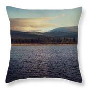 Gravel Lake Throw Pillow