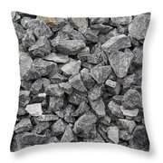 Gravel - Road Metal Throw Pillow