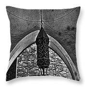 Grayscale Lantern Throw Pillow