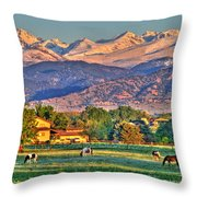 Grazing Throw Pillow by Scott Mahon